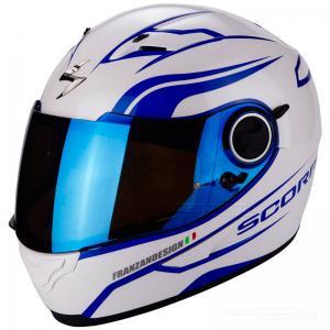 Scorpion EXO-490 (Luz) Pearl White, Blue