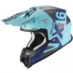 Scorpion VX-16 AIR (Mach) Mattblå, Silver