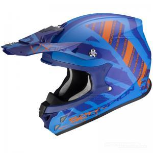 Scorpion VX-21 Crosshjälm MX/Race (Urba) Matt Blå, Orange