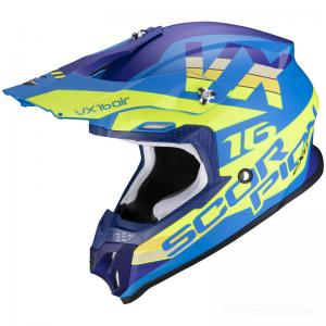 Scorpion VX-16 AIR (X-Turn) Mattblå, Neongul