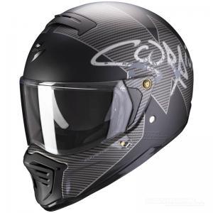 Scorpion EXO-HX1 Streetfighterhjälm (Tactik) Mattsvart, Silver