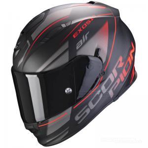 Scorpion EXO-510 AIR (Ferrum) Mattsvart, Silver, Röd