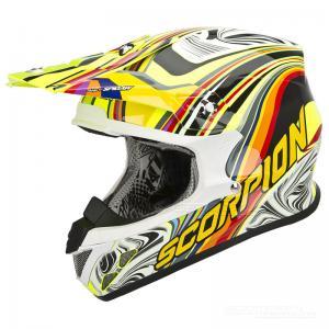 Scorpion VX-20 Crosshjälm MX/Race (SYM) Neongul, Multi