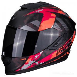 Scorpion EXO-1400 AIR (Sylex) Mattsvart, Röd