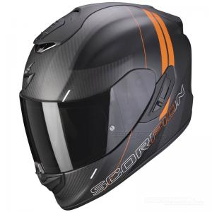 Scorpion EXO-1400 CARBON Kolfiberhjälm MC (Drik) Mattsvart, Orange