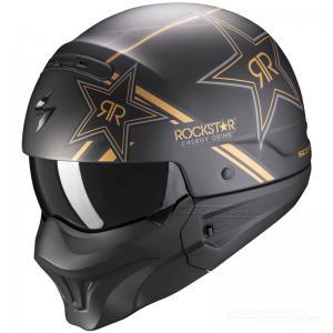 Scorpion EXO-COMBAT EVO Fighter Hjälm (Rockstar) Guld
