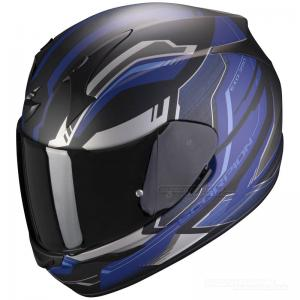 Scorpion EXO-390 (Boost) Mattsvart, Silver, Blå