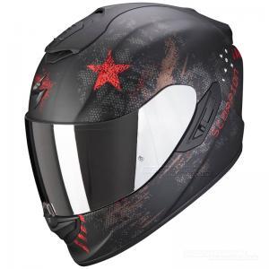 Scorpion EXO-1400 MC-Hjälm (Asio) Mattsvart, Röd