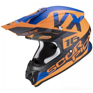 Scorpion VX-16 AIR (X-Turn) Matt Orange, Blå