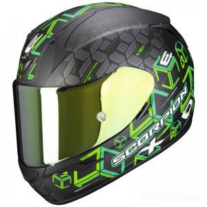 Scorpion EXO-390 Hjälm (Cube) Mattsvart, Grön