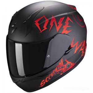 Scorpion EXO-390 (Oneway) Mattsvart, Röd