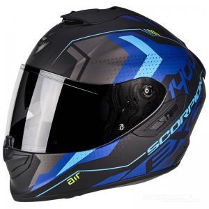 Scorpion EXO-1400 AIR (Trika) Mattsvart, Blå