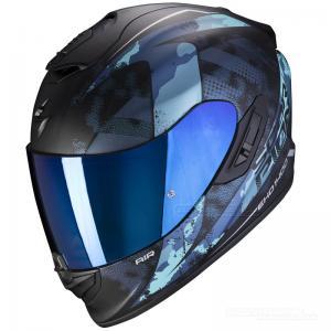 Scorpion EXO-1400 AIR (Sylex) Mattsvart, Blå