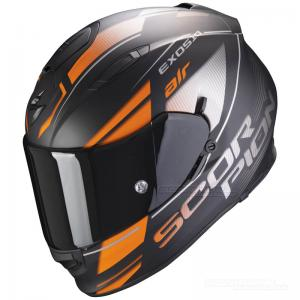 Scorpion EXO-510 AIR (Ferrum) Mattsvart, Orange, Silver