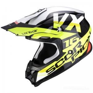 Scorpion VX-16 AIR (X-Turn) Svart, Neongul, Vit