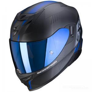 Scorpion EXO-520 Integralhjälm (Laten) Mattsvart, Blå